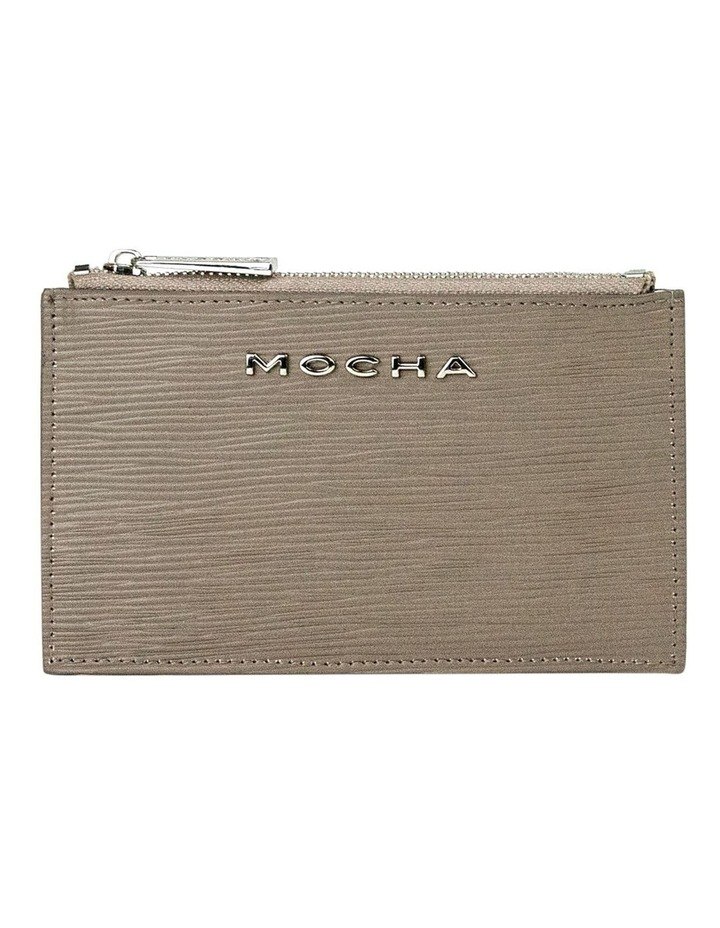 Zabrina Leather Coin Wallet - Taupe image 1