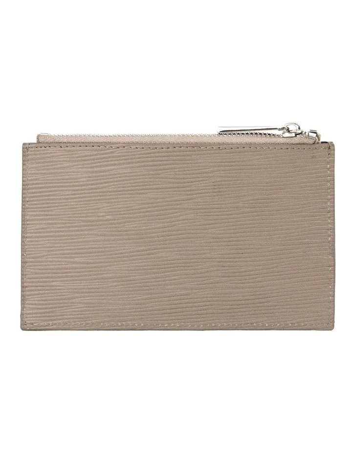 Zabrina Leather Coin Wallet - Taupe image 2