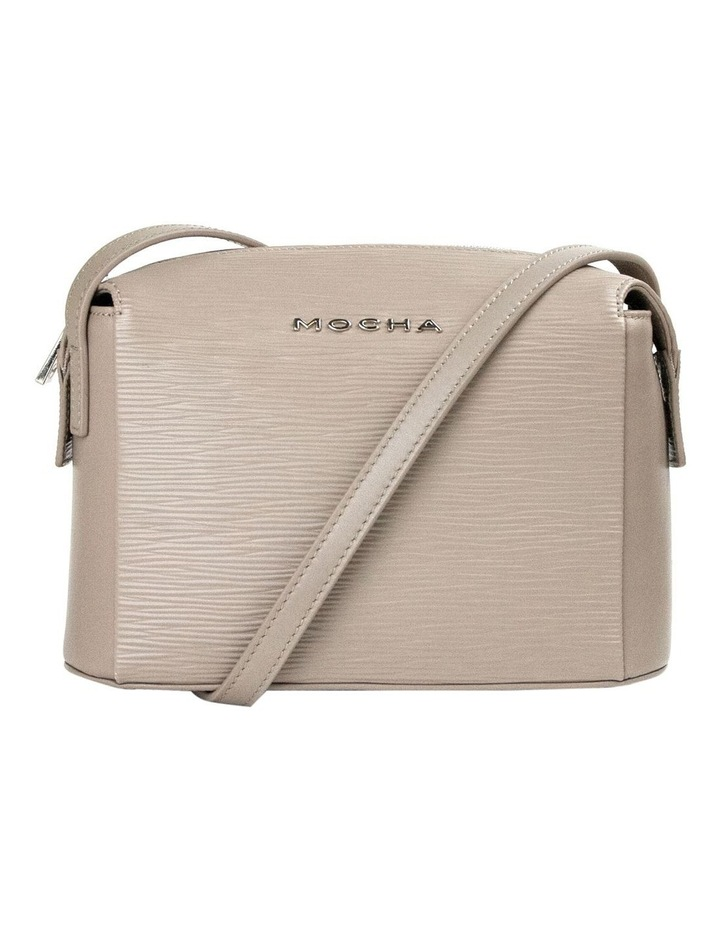 Zabrina Leather Box Crossbody Bag - Taupe image 1