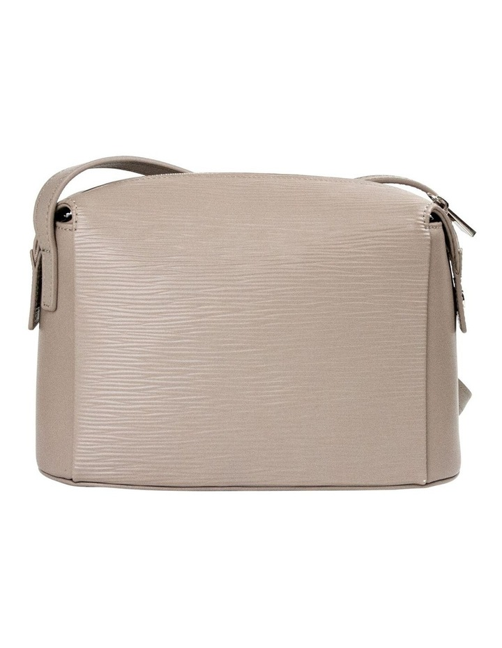 Zabrina Leather Box Crossbody Bag - Taupe image 2