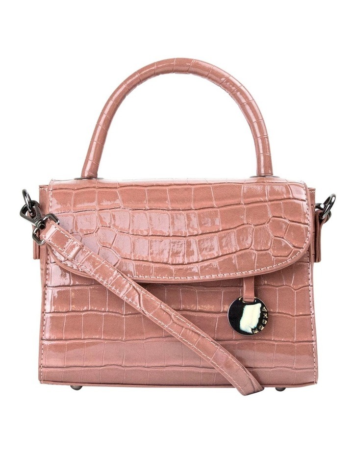 Jodie Croc Embossed Top-Handle Crossbody - Mauve image 1