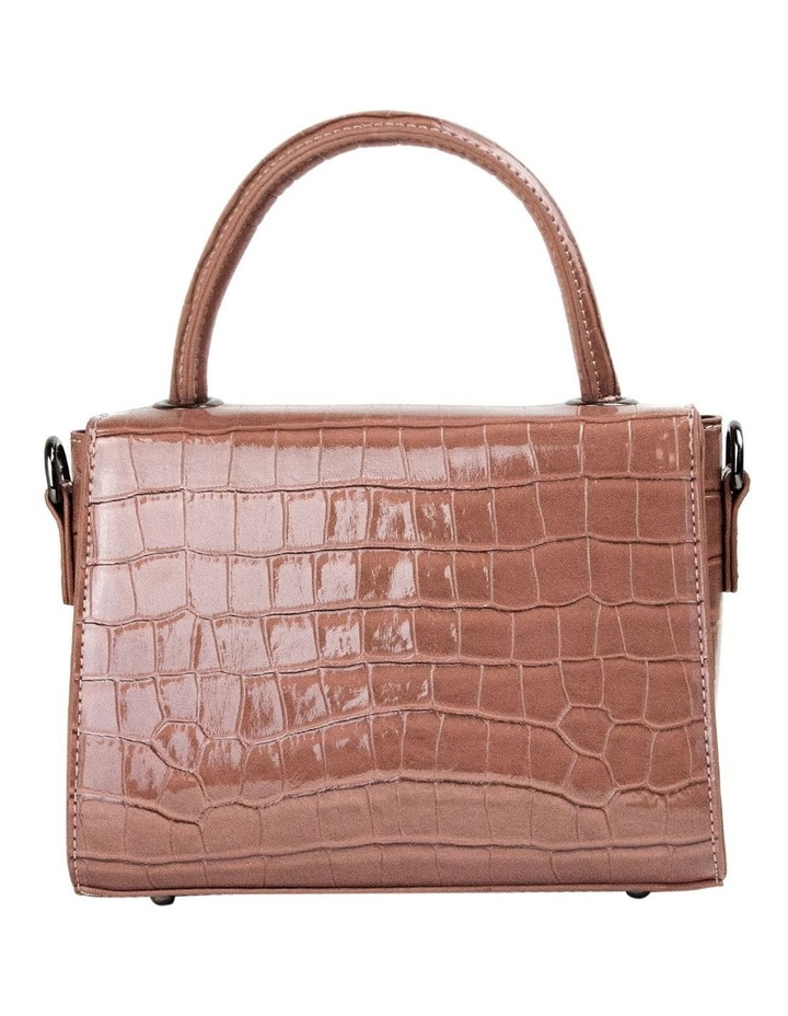 Jodie Croc Embossed Top-Handle Crossbody - Mauve image 3