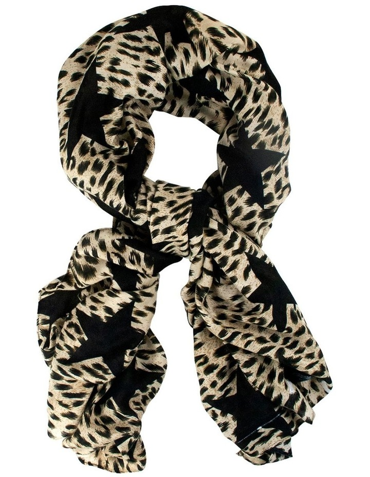 Starry Leopard Scarf - Sand image 1