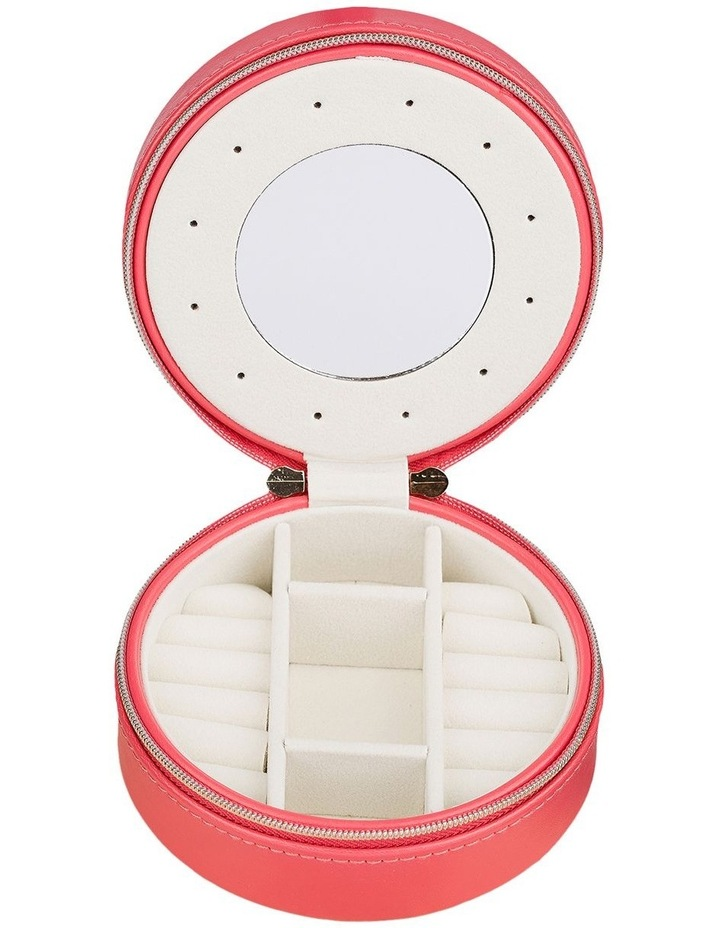 Small Circle Jewellery Case - Coral image 2