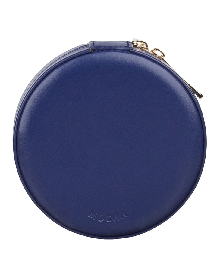 Small Circle Jewellery Case - Navy image 1