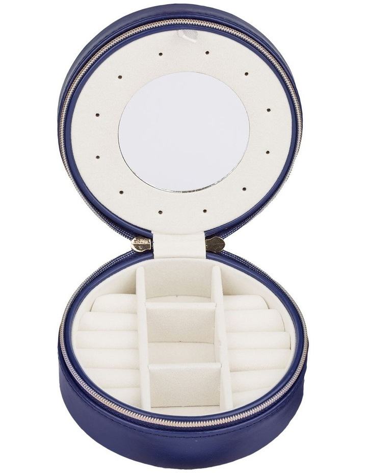 Small Circle Jewellery Case - Navy image 2
