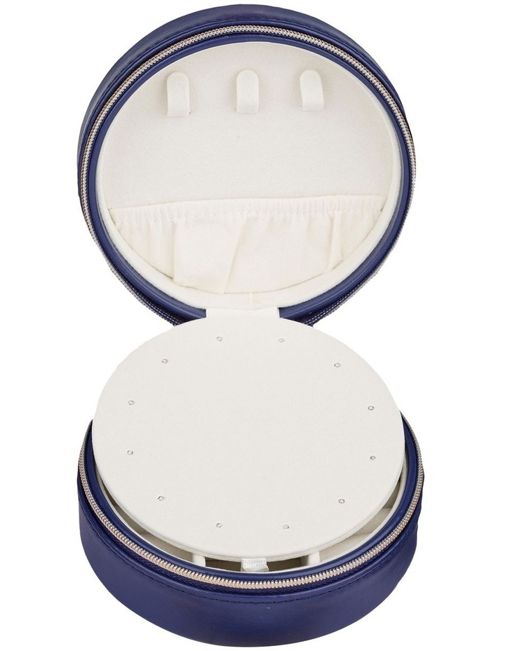 Small Circle Jewellery Case - Navy image 3