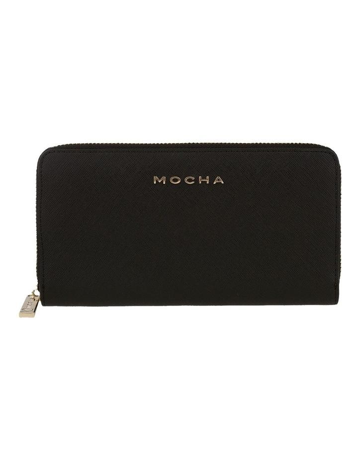 Kristi Leather Wallet - Black/Light Gold image 1