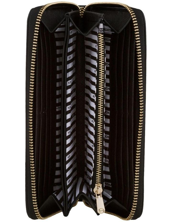 Kristi Leather Wallet - Black/Light Gold image 2