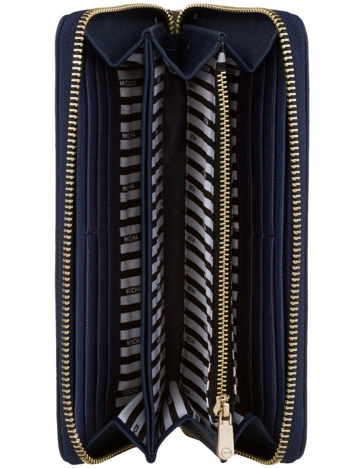 Kristi Leather Wallet - Navy/Light Gold image 2