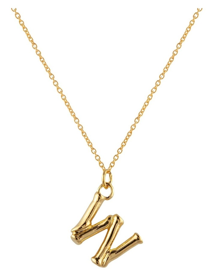 Initial Necklace - W image 1