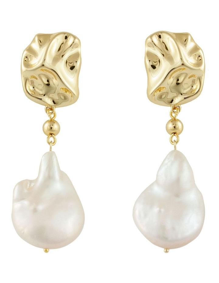 Rockpool Pearl Earrings - Gold image 1