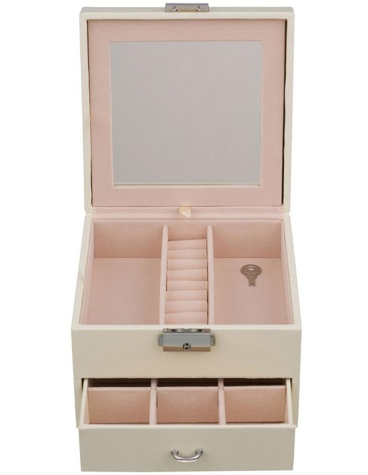 Mini Compact White Jewellery Box image 2