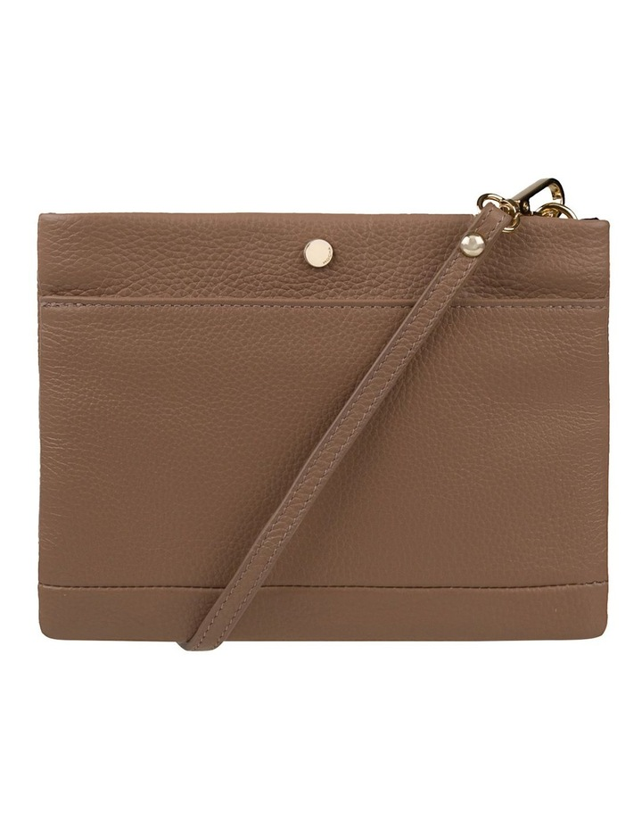 Andie Leather Crossbody - Taupe image 1