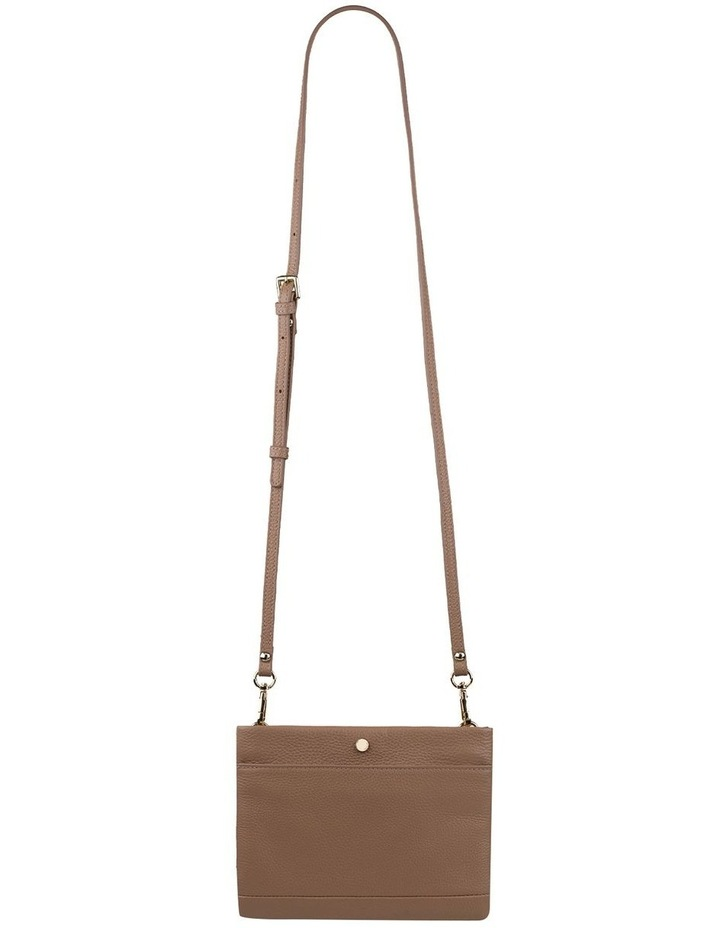 Andie Leather Crossbody - Taupe image 2