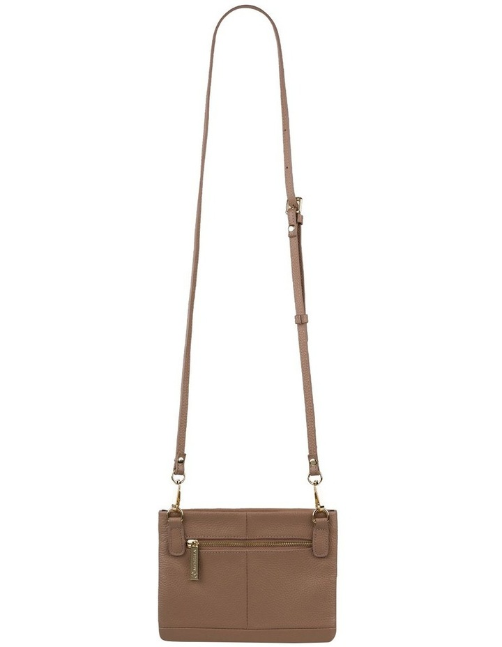 Andie Leather Crossbody - Taupe image 3