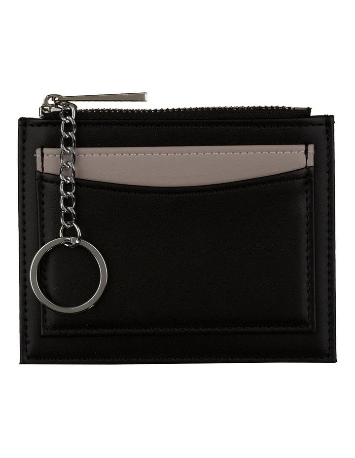 Contrast Mini Coin Wallet - Black/Grey image 1