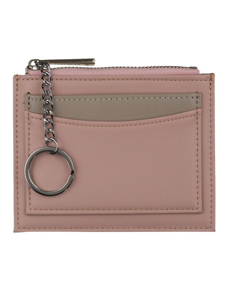 Contrast Mini Coin Wallet - Blush/Grey image 1