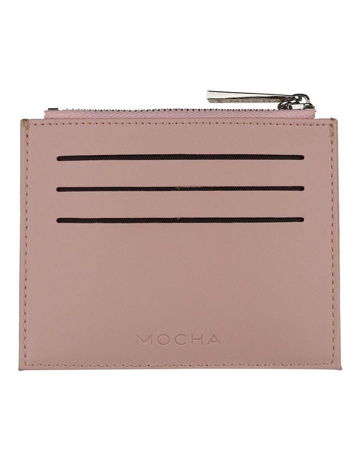 Contrast Mini Coin Wallet - Blush/Grey image 2