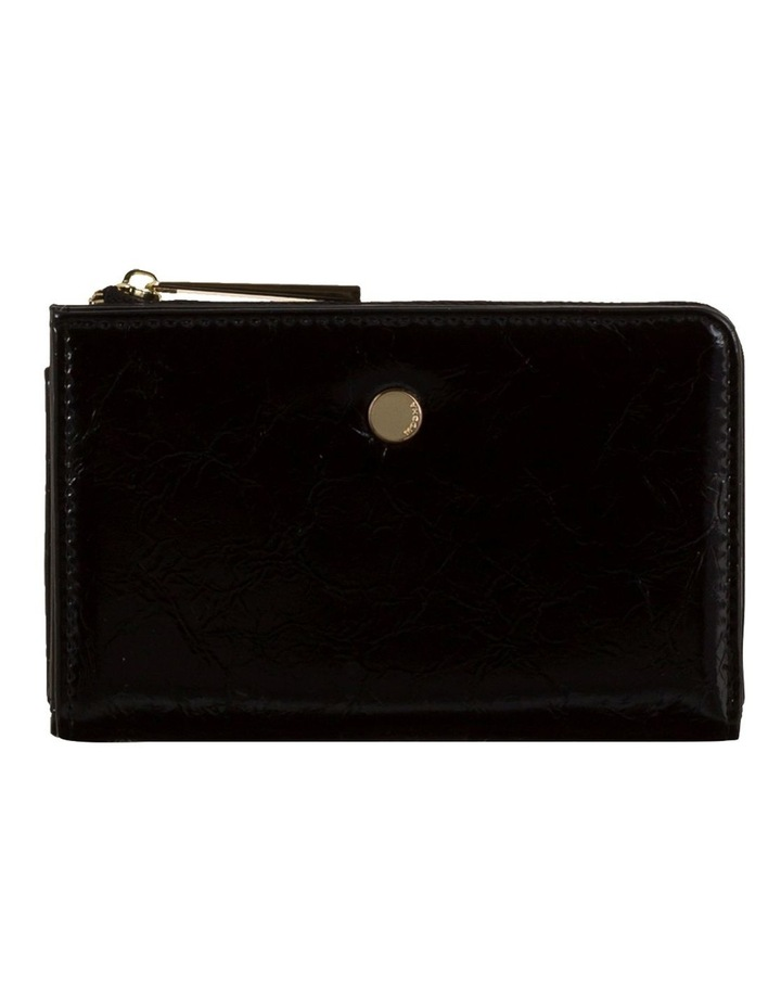 Cammy Crinkled Patent Small Wallet - Black image 1