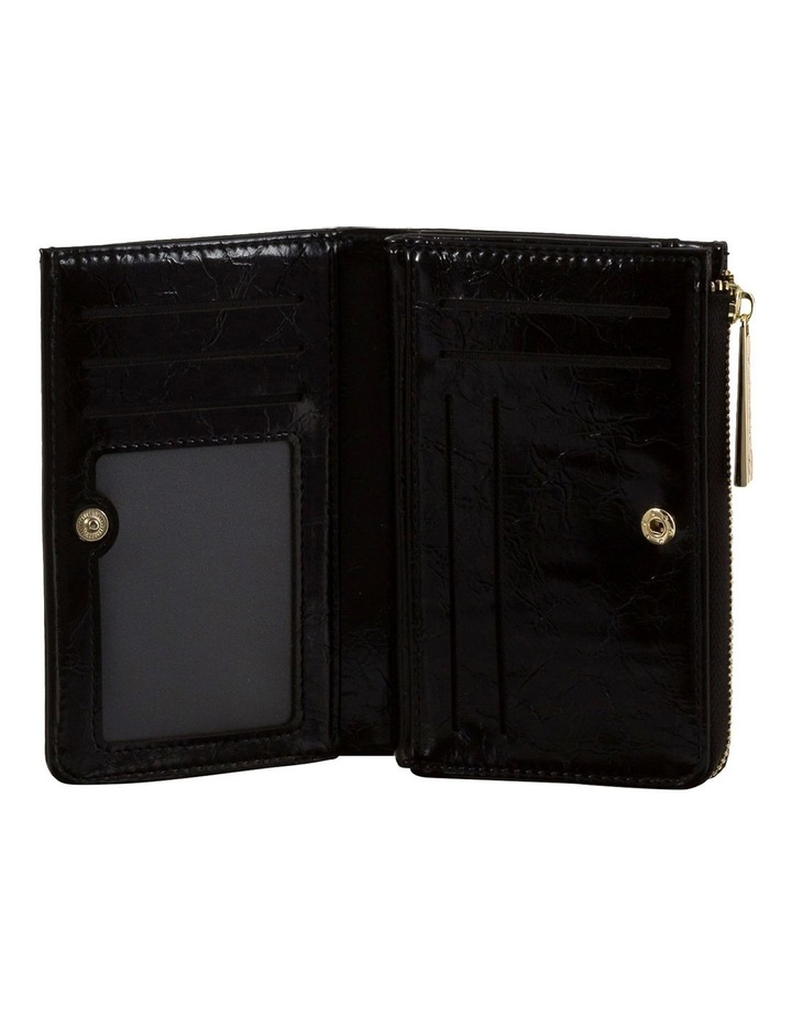 Cammy Crinkled Patent Small Wallet - Black image 2