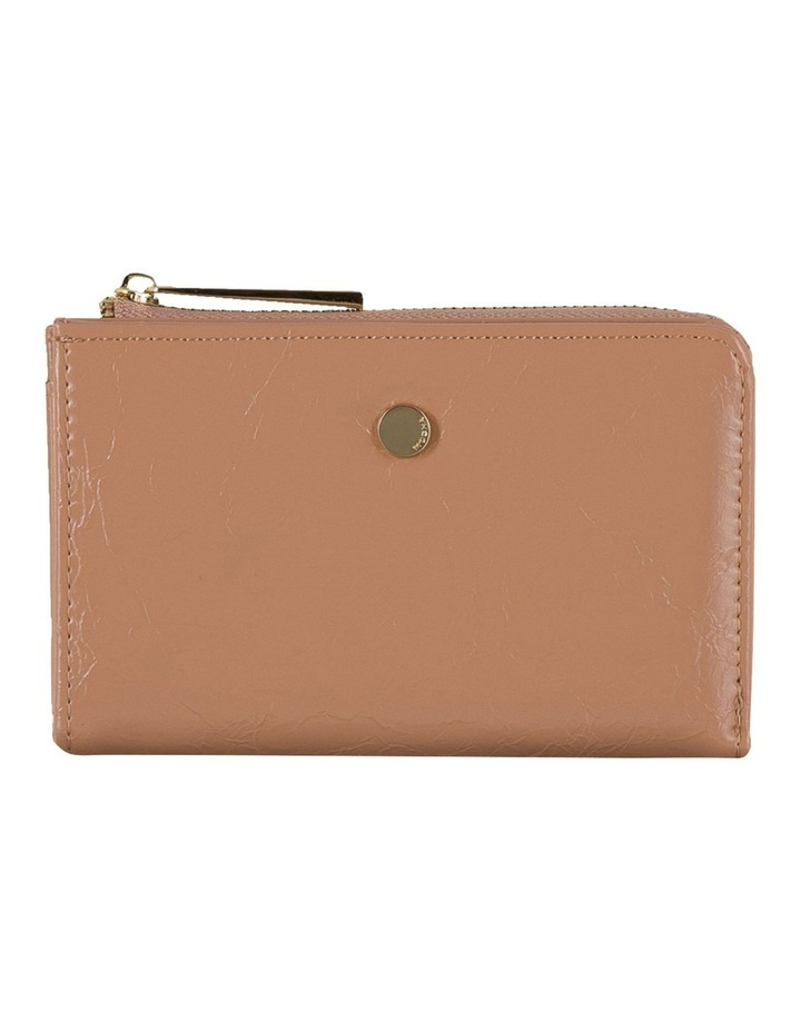 Cammy Crinkled Patent Small Wallet - Taupe image 1