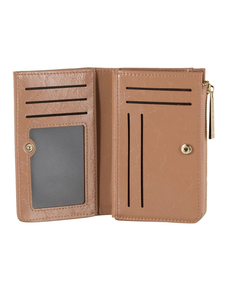 Cammy Crinkled Patent Small Wallet - Taupe image 2