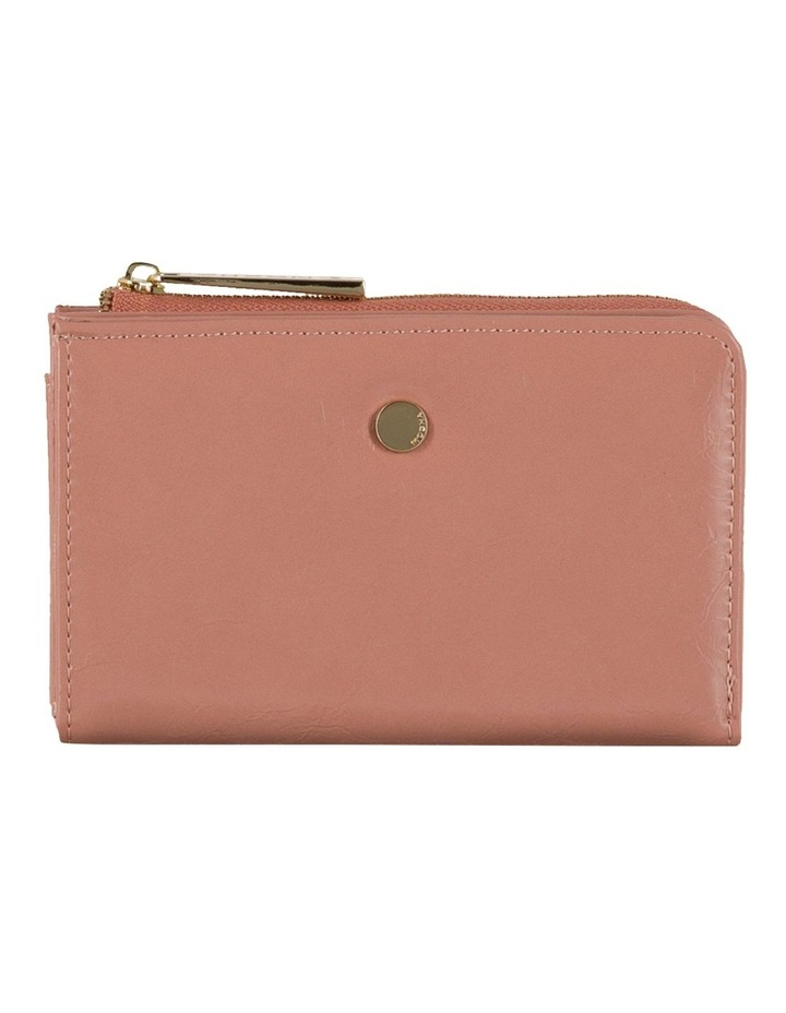 Cammy Crinkled Patent Small Wallet - Light Mauve image 1