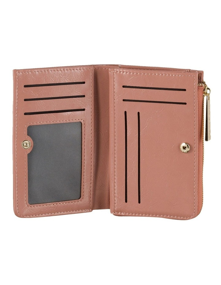 Cammy Crinkled Patent Small Wallet - Light Mauve image 2