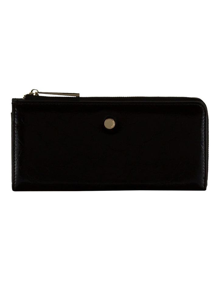 Cammy Crinkled Patent Long Wallet - Black image 1
