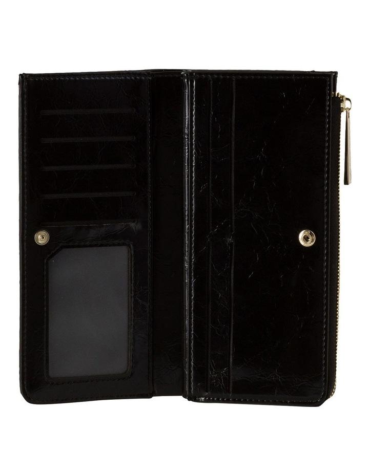 Cammy Crinkled Patent Long Wallet - Black image 2