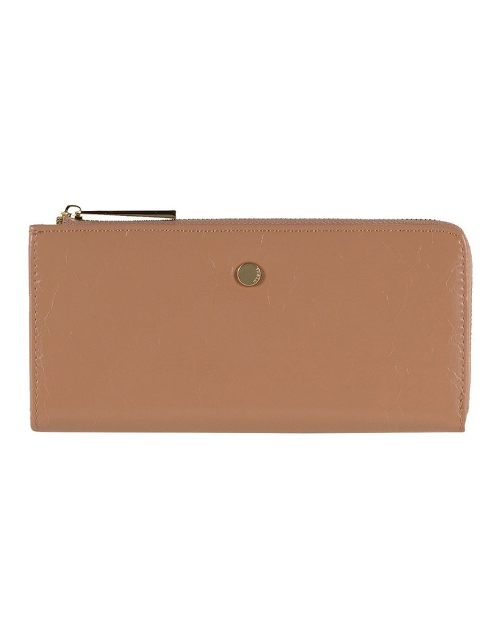 Cammy Crinkled Patent Long Wallet - Taupe image 1