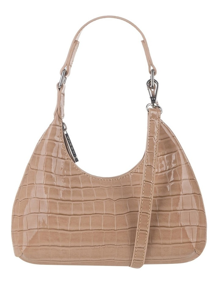 Molly Taupe Croc Embossed Crossbody image 1