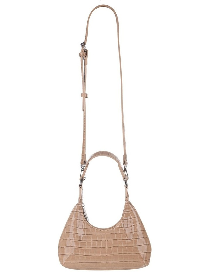 Molly Taupe Croc Embossed Crossbody image 2