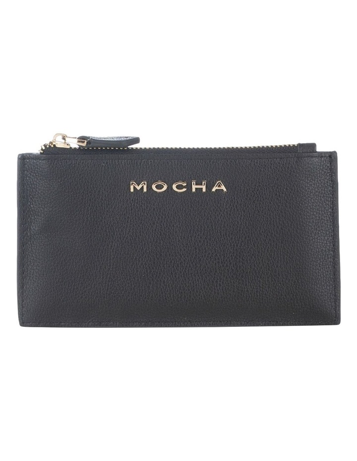 Classic Black Leather Card Coin Wallet image 1