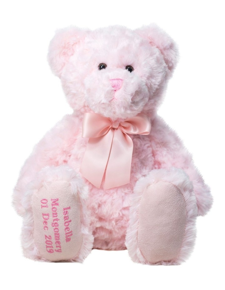 PINK MY BIRTHDAY TEDDY WITH PINK RIBBON image 1