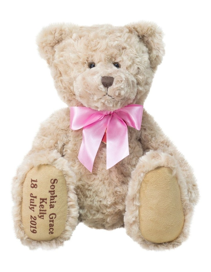 TRADITIONAL MY BIRTHDAY TEDDY WITH PINK RIBBON image 1