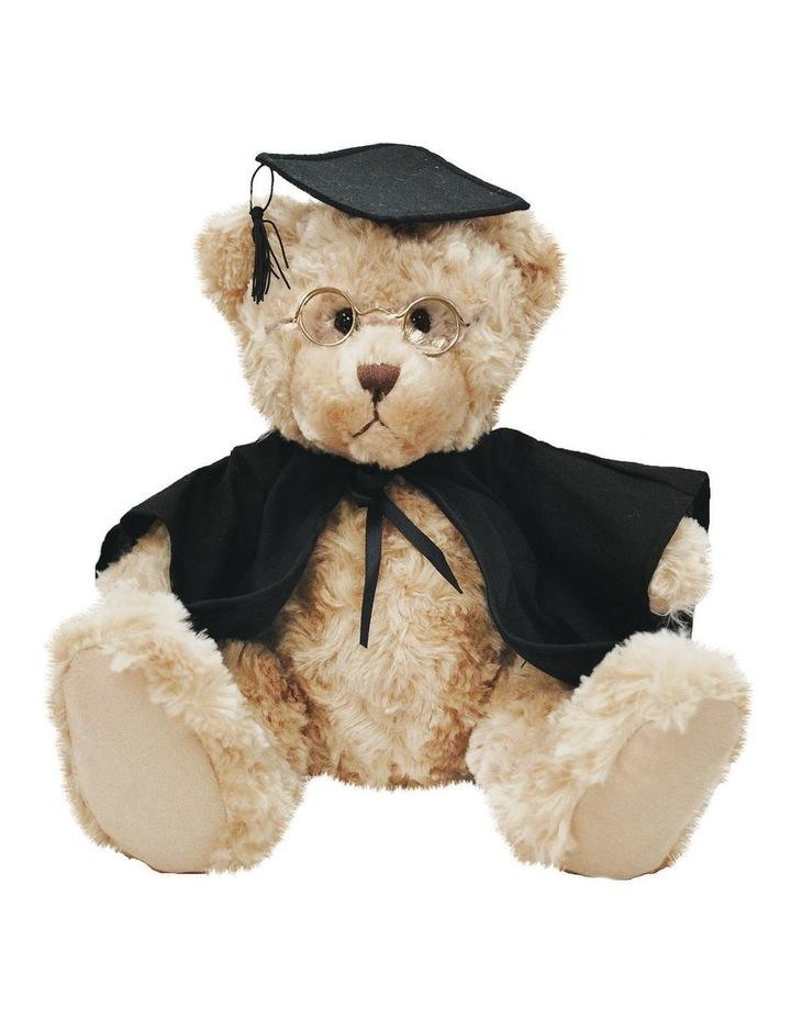 Billie Graduation Bear Beige w' Glasses 25cm image 1