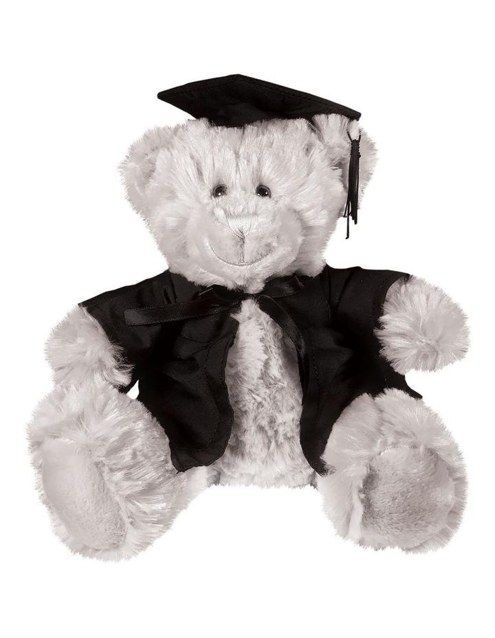 Frankie Graduation Bear Grey 28cm image 1