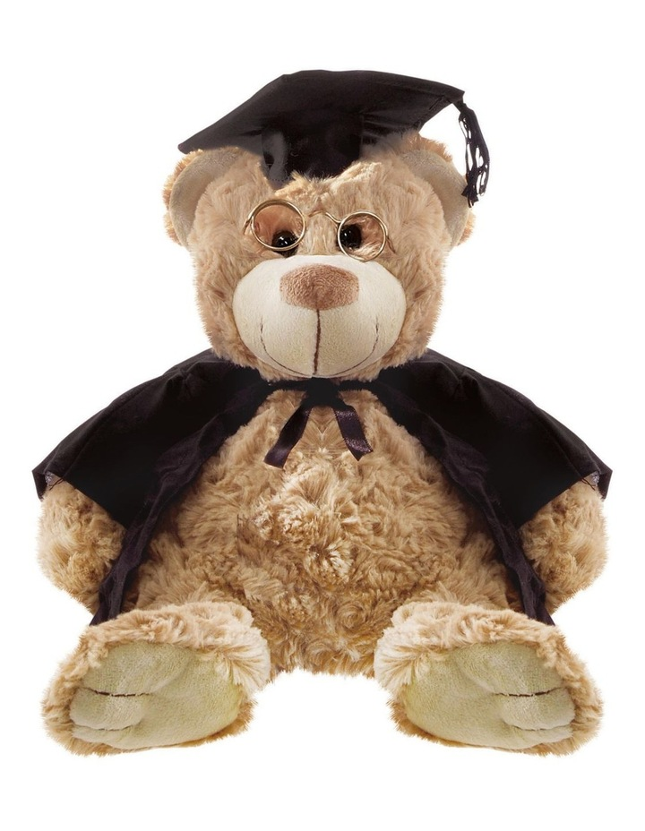 Rosie Bear Graduation Brown w' Glasses 32cm image 1