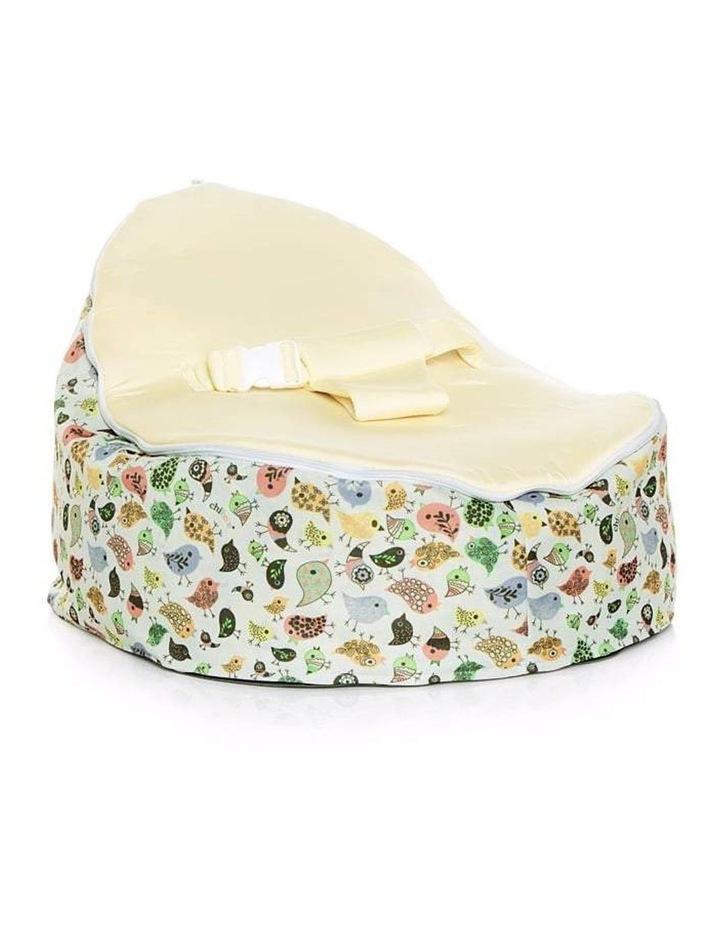 Teeny Birds Snuggle Pod Baby Bean Bag Cream image 1