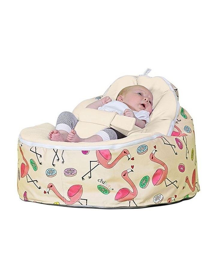 Flamingo Snuggle Pod Baby Bean Bag - Cream image 1