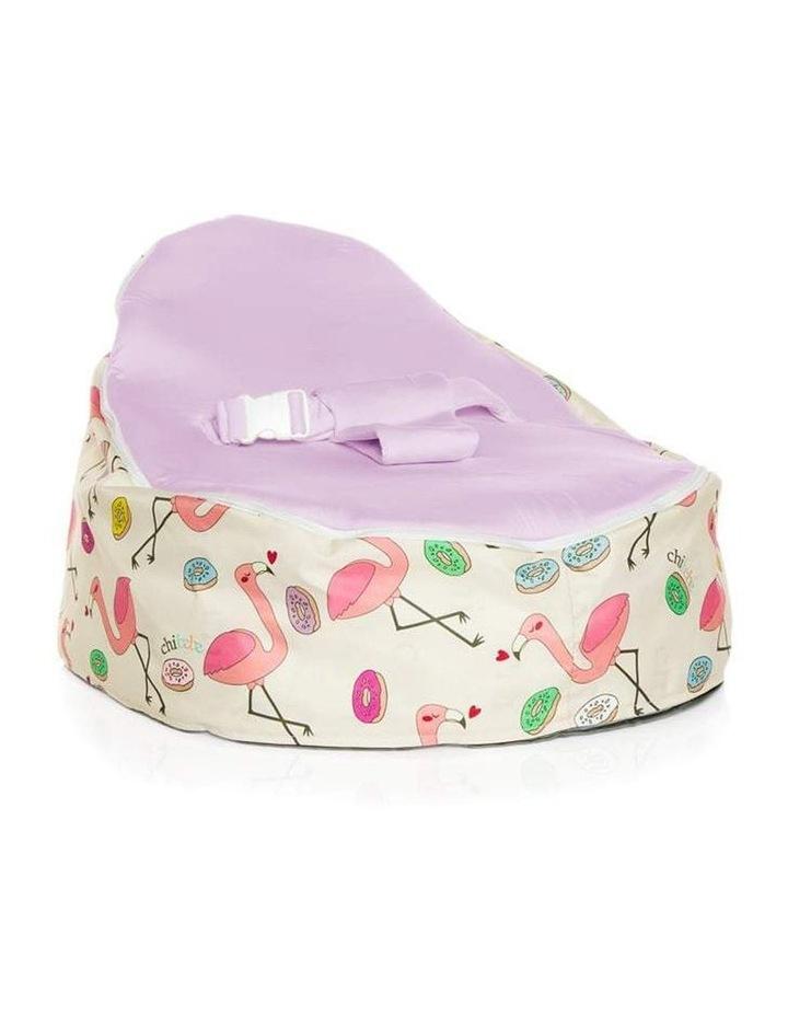 Flamingo Snuggle Pod Baby Bean Bag - Grape image 1