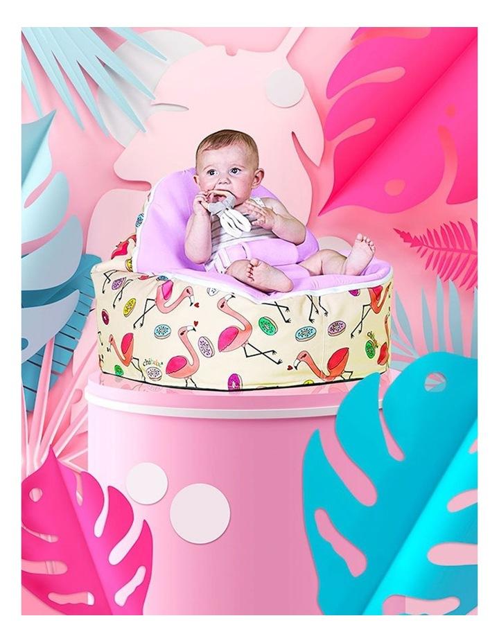Flamingo Snuggle Pod Baby Bean Bag - Grape image 3
