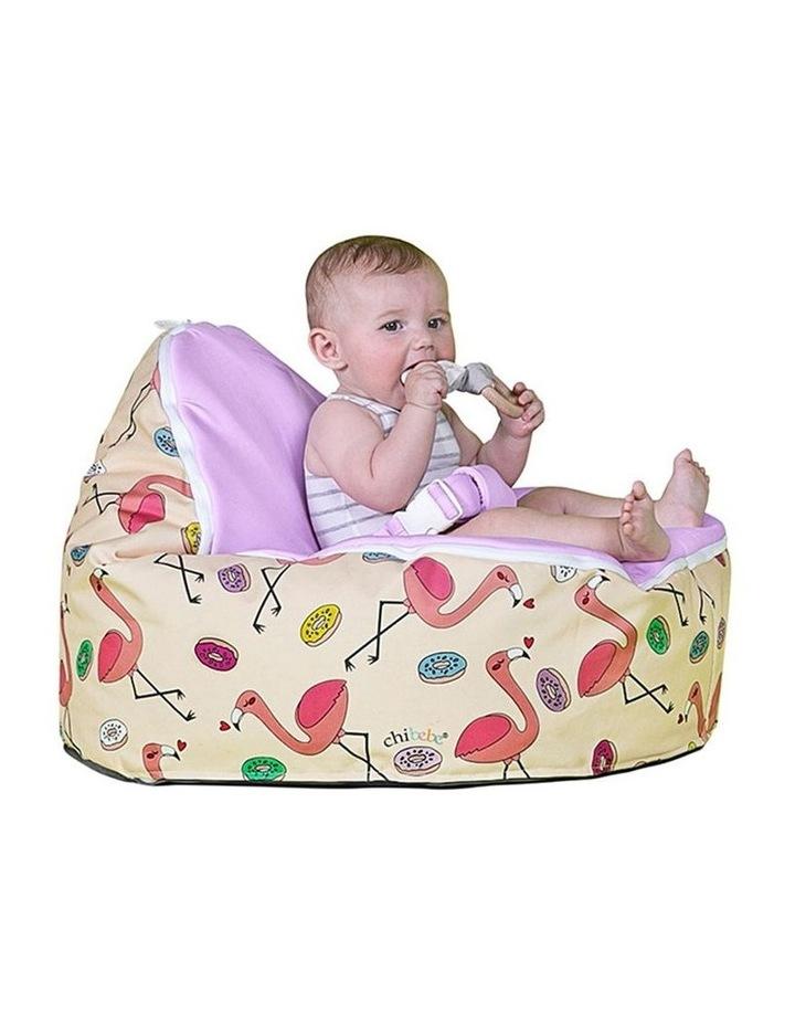 Flamingo Snuggle Pod Baby Bean Bag - Grape image 4