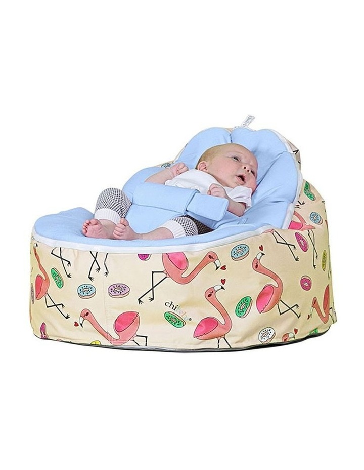 Flamingo Snuggle Pod Baby Bean Bag - Blue image 2