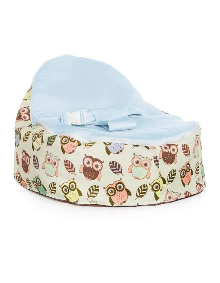 HOOT! Snuggle Pod Baby Bean Bag Blue image 1