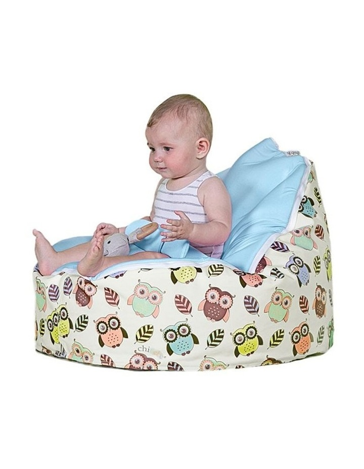 HOOT! Snuggle Pod Baby Bean Bag Blue image 2