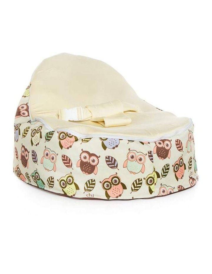 HOOT! Snuggle Pod Baby Bean Bag Cream image 1