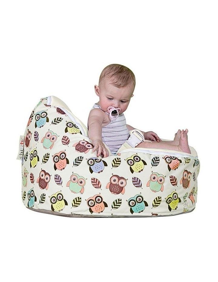 HOOT! Snuggle Pod Baby Bean Bag Cream image 2